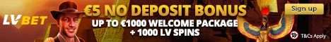 LVBet.com 1000 free spins and 1000€ welcome bonus