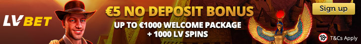 LVbet - Exclusive Sign Up offer: €5 Free Bonus On All Providers
