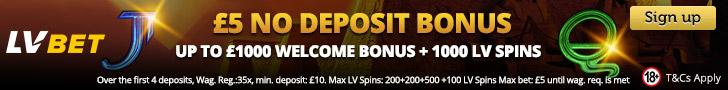 LVBet casino no deposit bonus