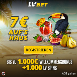 LVbet.com Exclusive 7€ Free