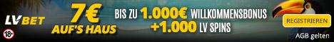 €7 No Deposit Bonus DE 468x60